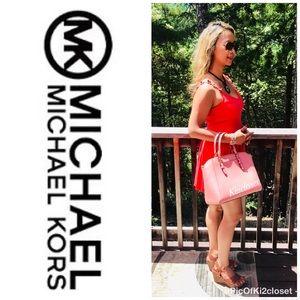 NWT MICHAEL Michael Kors Handbag Ciara Pink Tote